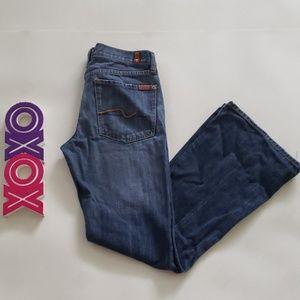 7FAM medium wash flare jeans